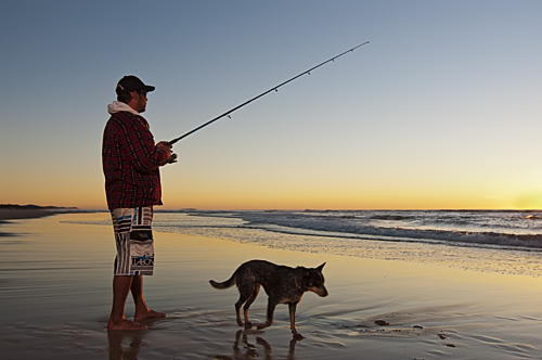 Coolum fisherman by Propertyshoot.