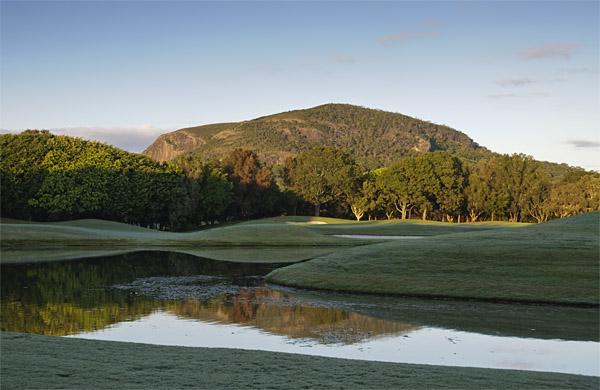 Mt Coolum across the Hyatt Golf Course