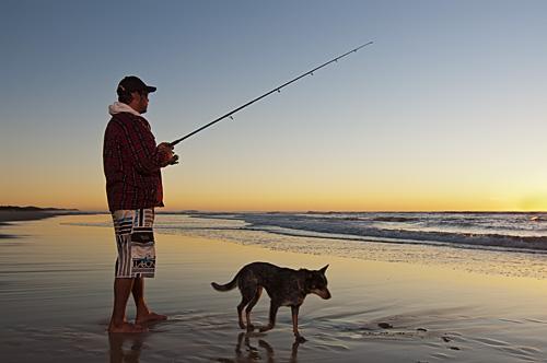 Coolum fisherman by Propertyshoot.