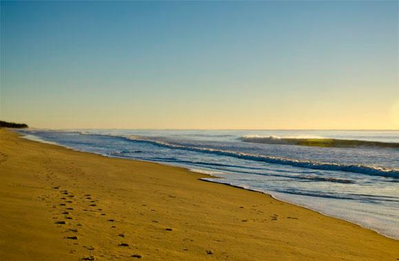 Just after sunrise on Yaroomba Beach, Sunshine Coast