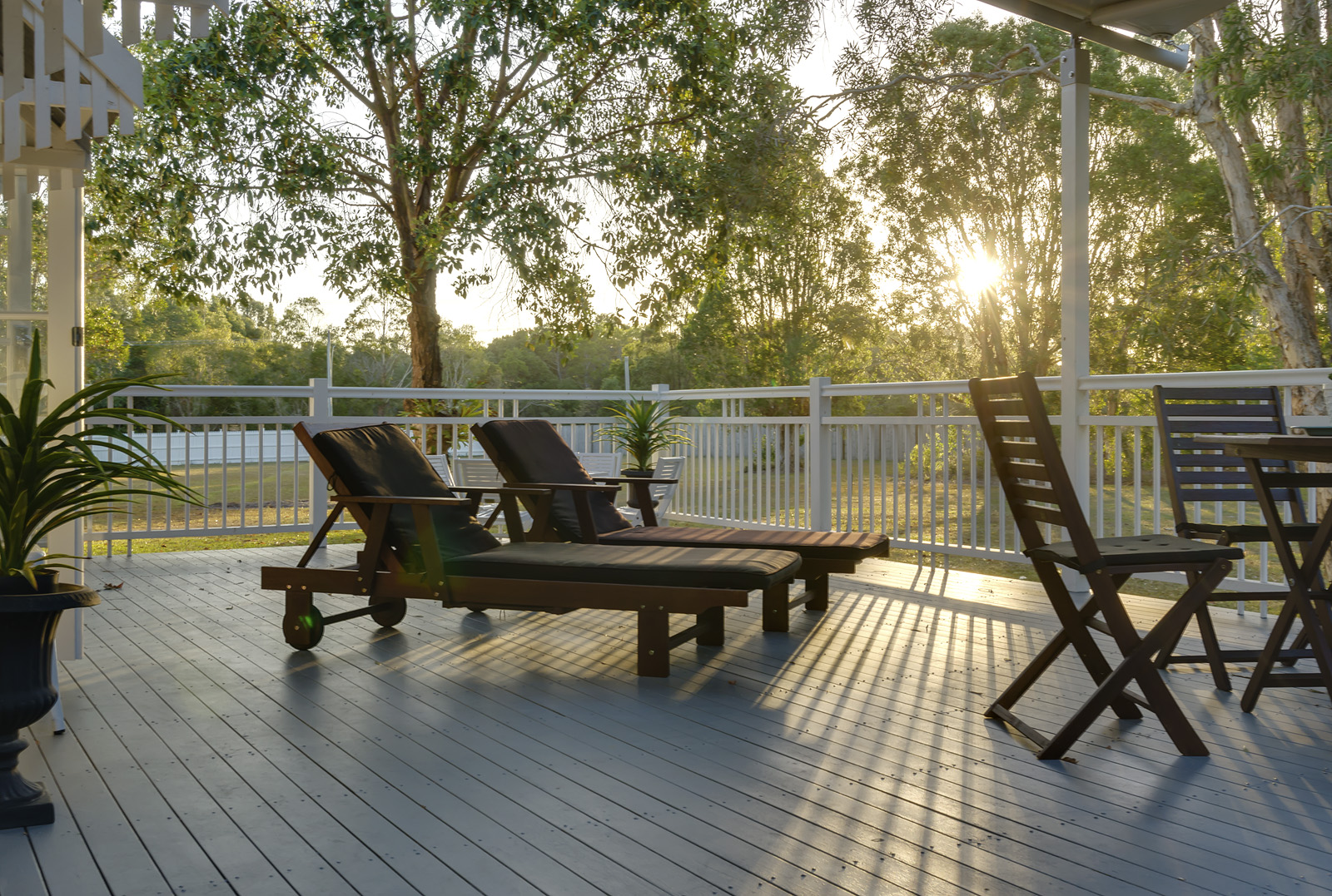 Deck at Sundown by Propertyshoot
