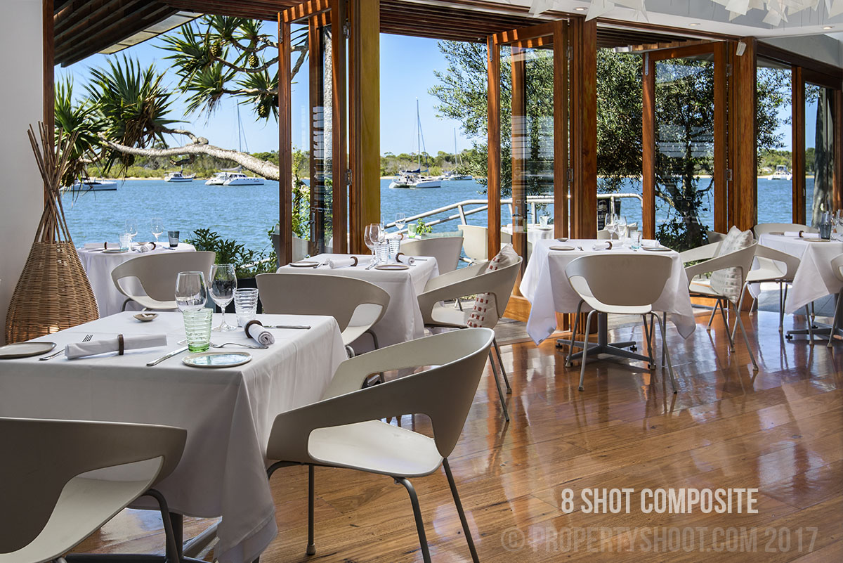 Edited restaurant marketing photograph by Propertyshoot Photography Sunshine Coast